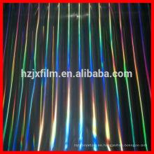 Película holográfica de los recubrimientos / venta caliente impresa color de la venta Película del abrigo del estiramiento del empaquetado de la alta calidad / película protectora de la película plástica protectora