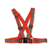 Flu Orange Reflective Safety Belt with Adjustable Buckle