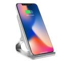 Meilleur vendeur chargeur rapide sans fil avec des matériaux QI en alliage d'aluminium certs pour Samsung et pour iPhone 10w charge rapide