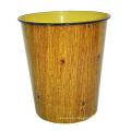 Ronda de plástico de madera Diseño Open Top basura de basura (B06-2018-4)