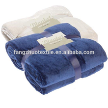 wholesale couverture en molleton de corail doux de couleur unie
