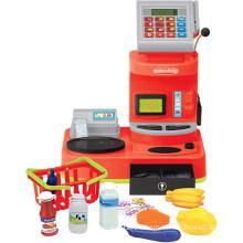 Электрический игрушечный кассовый аппарат для игры в притязание для игр (H0009394)