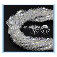 Bikone Perlen nähen auf Kristall Perlen Brautkleid