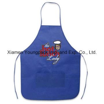 Azul real TNT promocional reusável que cozinha o avental