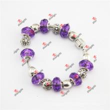 Мода Purple Charmilia стеклянные бусины браслет ювелирные подарки (ALK60229)