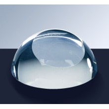 Optical Crystal Paperweight Clear Glass
