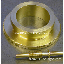 Brass Copper Bronze Precise Lathing Telescope Worm Gear and Worm Shaft