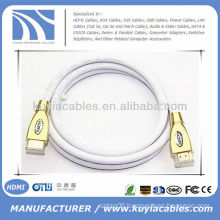 Premium White 5FT HDMI Cable 1.4 Ethernet 3D BluRay HDTV PS3