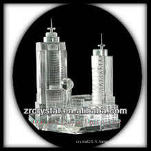 Magnifique modèle de bâtiment en cristal H042