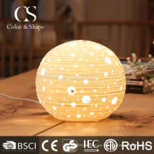 Lámpara de mesa moderna de lujo redonda de cerámica para la decoración