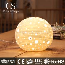 Lampe de table fantaisie en céramique ronde moderne pour la décoration