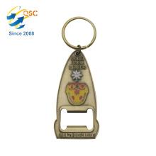Custom design fashion zinc alloy parts metal key chain bottle opener