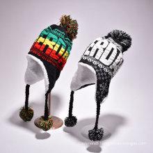 Womens Girls Children Winter Warm Knitted Outdoor Earflap Ear Warmer Ski Aviator Hat (HW154)