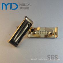 Ornamentos brillantes del metal del oro de la manera para las mujeres y los cargadores de los hombres