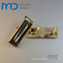 Ornamentos brilhantes do metal do ouro da forma para mulheres e carregadores dos homens
