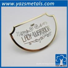 hecho a medida del metal LADY WARRIOR accesorio, accesorio del bolso del metal