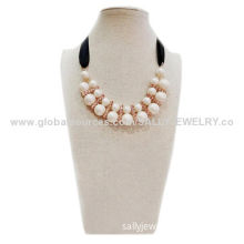 Fashion imitation statement choker with black ribbon and rhinestones, OEM/small orders are welcome