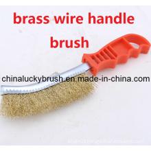 Brass Wire Plastic Handle Polishing Brush (YY-352)