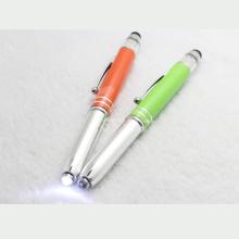 Pluma del flash de Bling, pluma del laser del tacto con el cristal