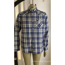 Single Pocket Shirt In Cotton Check For Men