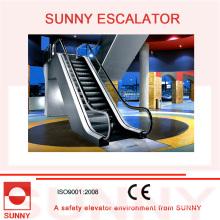 Escada rolante interna com placa de pente de liga de alumínio e corrimãos de borracha, Sn-Es-ID065