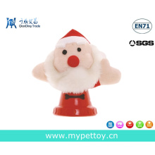 Pets Father Christmas Gift Toy Plush and Rubber Dog Toy