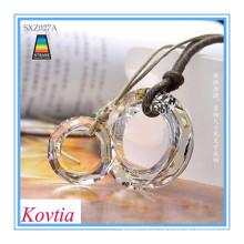 Мода ожерелье 2015 бижутерия ожерелья пару кристалл кулон ожерелье
