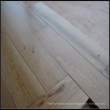 Laca UV Suelo de madera dura de roble blanco sólido natural