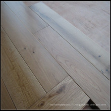 Revêtement de sol en bois de chêne blanc naturel solide de laque UV