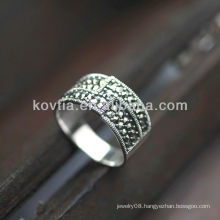 High end design chunky silver antique rings high quality rings