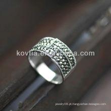 High-end design chunky prata anéis antigos anéis de alta qualidade