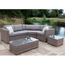 Mobília de vime ao ar livre do Rattan Lounge sofá conjunto jardim do pátio