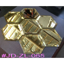 Carrelage en miroir en cristal spécial en or