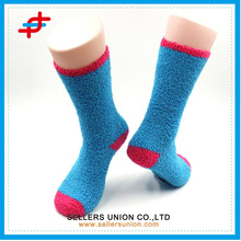 Пользовательский логотип Яркий цвет теплая зима Половина бархата дамы толстые трикотажные махровые счастливый носок