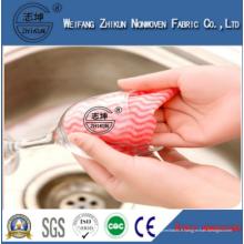 Tissu non tissé personnalisé à la mode Spunlace personnalisé pour chiffon de nettoyage de cuisine