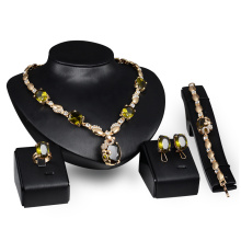 Emerald Rhinestone Jewelry Sets for Women (C-XSST0069)