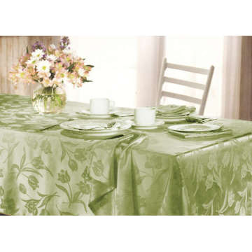 Tulip Design Jacquard Table Cover 4 People Seat St115