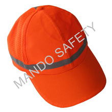 100% Polyester Safety Cap with Reflective Piping