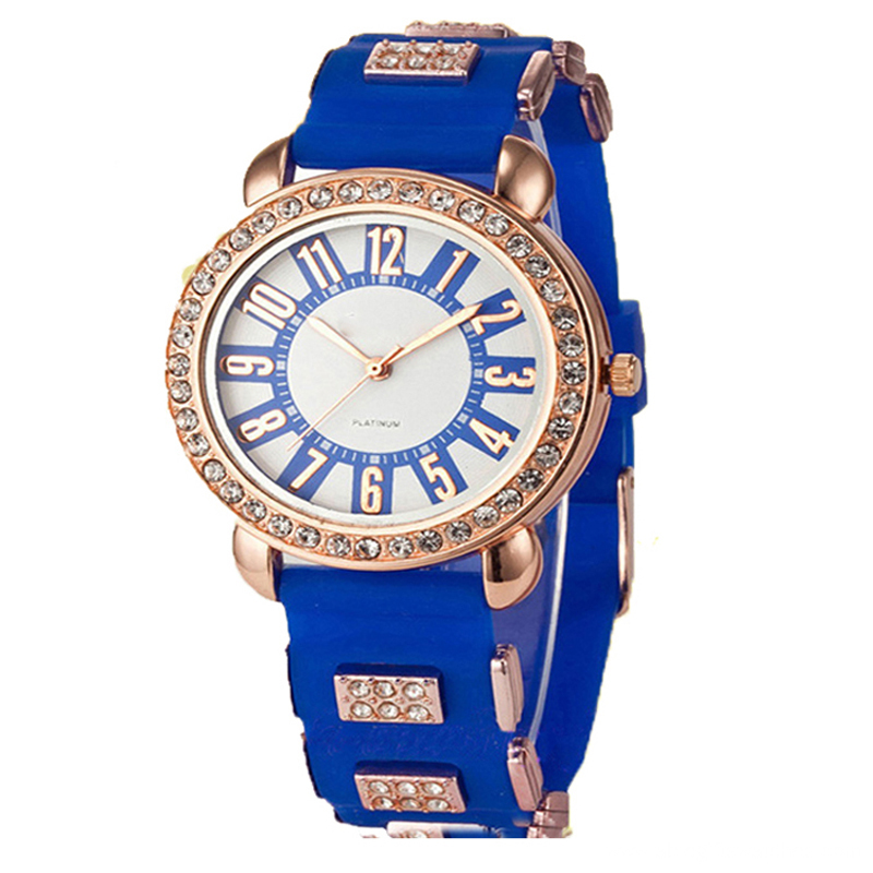 2016 Newest Colorful Girls Silicone Luxury Watch