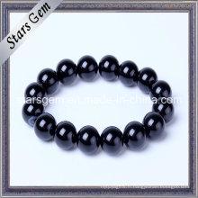 Bracelet en agate noir de bonne qualité pour bijoux