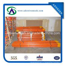 Оранжевый столб T для обслуживания забора ила