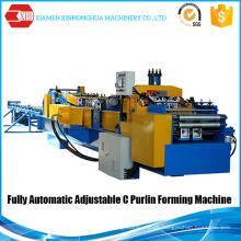 C und Z Vollautomatische Anpassung Interchange Purlin Maschine zum Verkauf