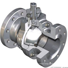 Pneumatic High Pad Flanged Ball Valve