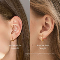 Small Gold Hoop Earrings for Women 14k Real Gold Plated Hypoallergenic Tiny Cartilage Huggie Girls Ear