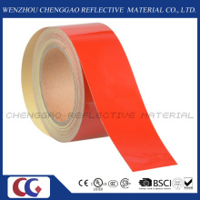 Red Commercial Grade Reflective Caution Tape for Floor (C1300-OR)