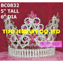 Coroa redonda do concurso de beleza
