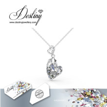 Destin bijoux doré de Swarovski purement Heart pendentif & collier