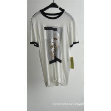 Модный хлопок вискоза с коротким рукавом Мужчины свитер