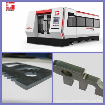 Machine de découpe laser en métal 500W / 1000W / 2000W avec source laser allemande Ipg avec certification CE