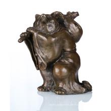 Tier Handwerk Qualität Waschbär Bronze Skulptur Statue Tpal-048